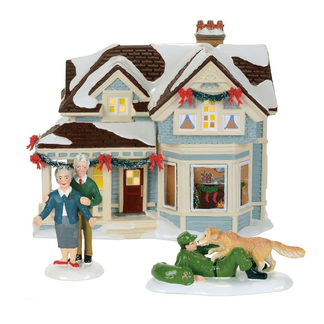 Department 56 Snow Village Home for Holidays Lit House, 6.97 inch