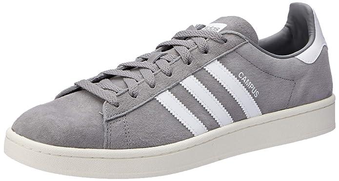 Adidas Campus Schuhe Herren Grau (Grey Three) mit Weißen Streifen
