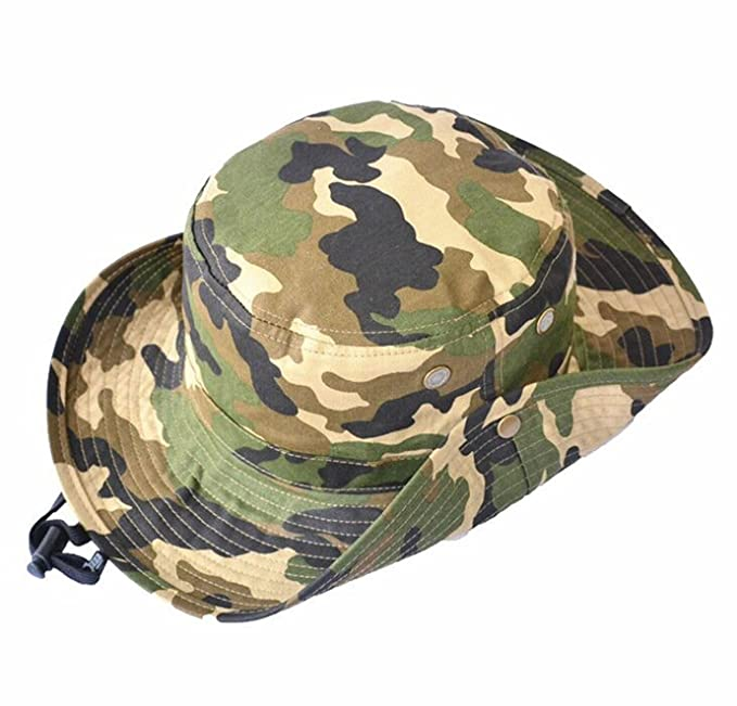 8595aa77 WESIZER Kids Boys Man Camouflage Hat Navy Fishman Cap Sun Protection Bucket  Hat Blue