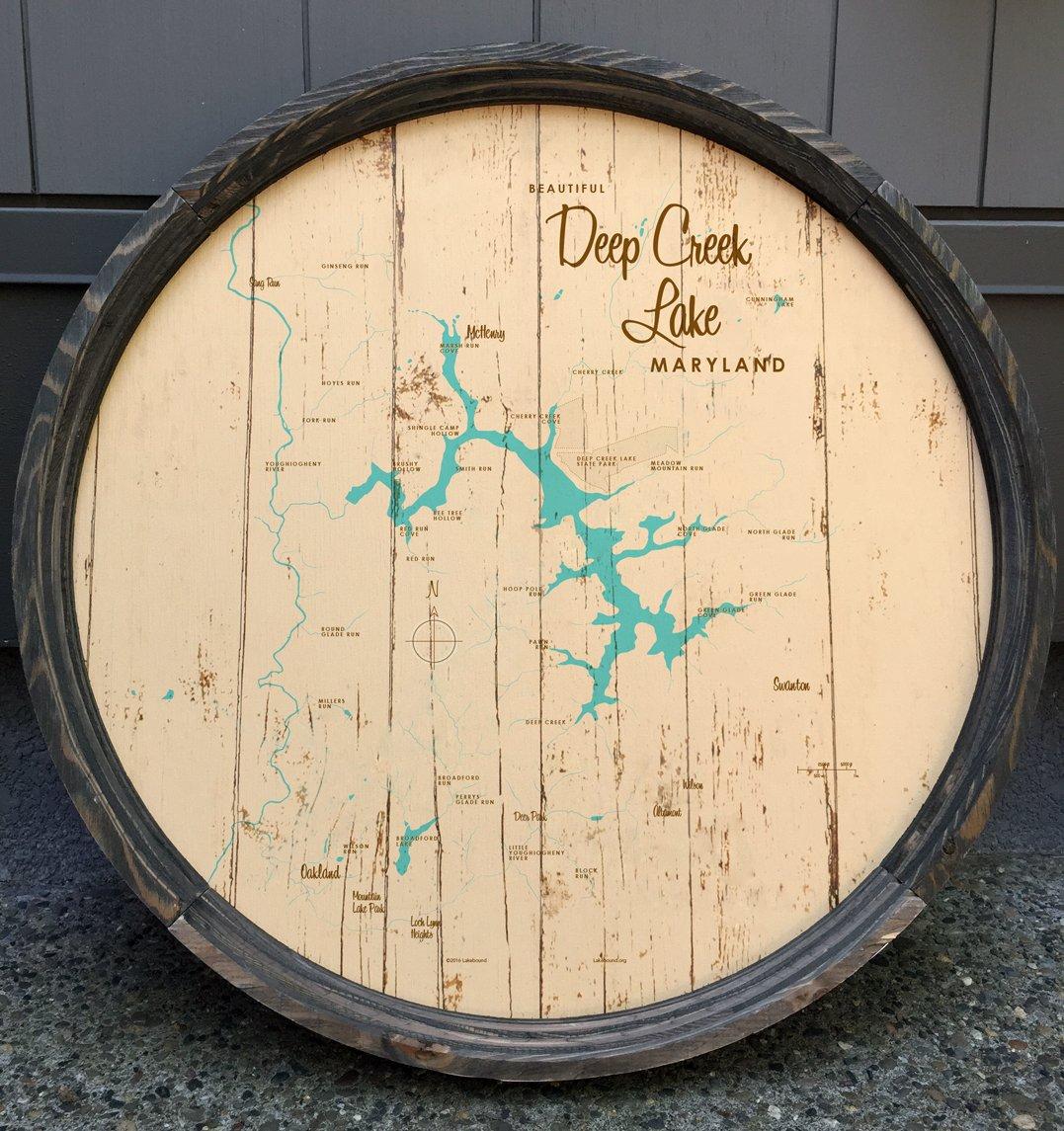 Deep Creek Lake Map Barrel End