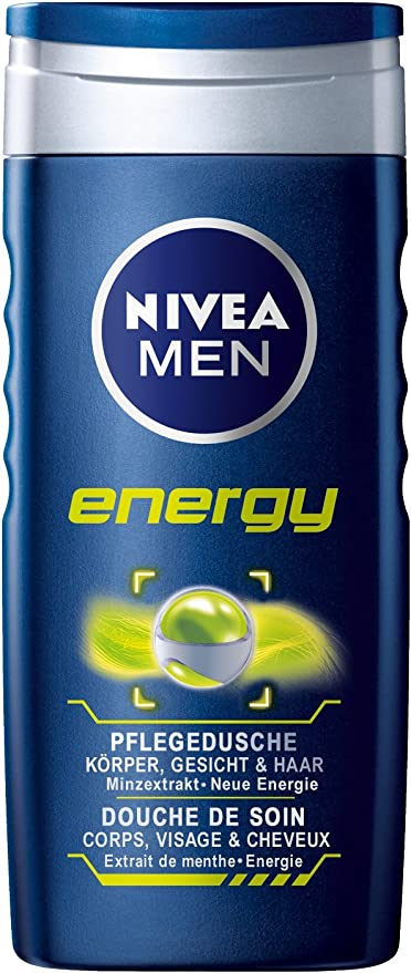 Nivea men - Energy, cuidado de ducha, pack de 2 (2 x 250 ml ...