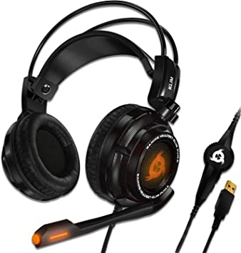 KLIM Puma – Cascos Auriculares Gaming con micrófono – Sonido Envolvente 7.1 Audio – Vibración integrada – Negro – Ideales para Jugar en PC y PS4 [ Nueva 2020 Versión ]: Amazon.es: Electrónica