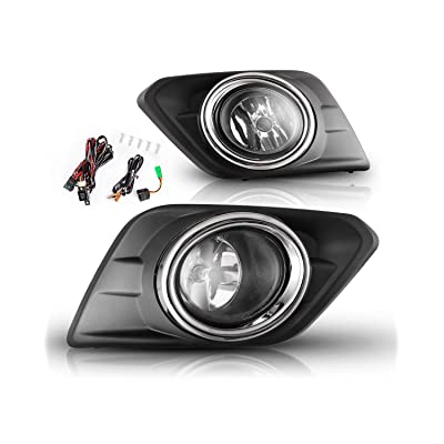 Fog Lights for 2014-2016 Nissan Rogue (NOT Fit Rogue Select Models) With Clear Lens 2PCS AUTOWIKI: Automotive