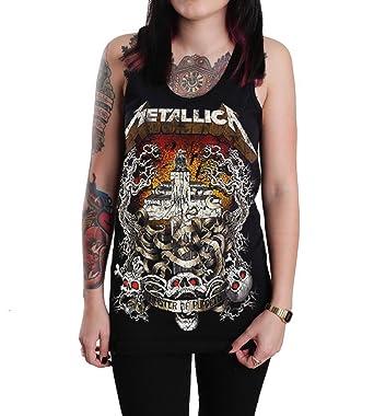 7e753b748ee61 Rockstar Reo Women s Metallica Master Of Puppets Tank Top T-Shirt (Small)