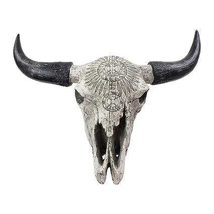 Wall Hanging Metal Resin Animals Garden Patio Ornament Head Elephant Cow Buffalo