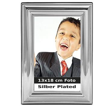 Bilderrahmen poliert versilbert Fotorahmen 9x13cm 10x15cm 13x18cm Kreuzband