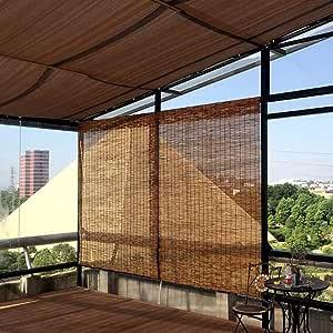 Reed blinds Persianas enrollables de bambú Natural, Hechas de caña, Cortina de Paja de partición Retro, Protector Solar, Parasol, Interior, Exterior, Pueden ser Personalizadas: Amazon.es: Hogar