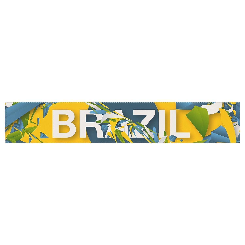 Kess InHouse Danny Ivan Brazil World Cup Table Runner