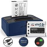 2 Batteries + Double Chargeur (USB) pour Maginon / Rollei / Tevion / Traveller / Praktica Luxmedia... - v. liste!