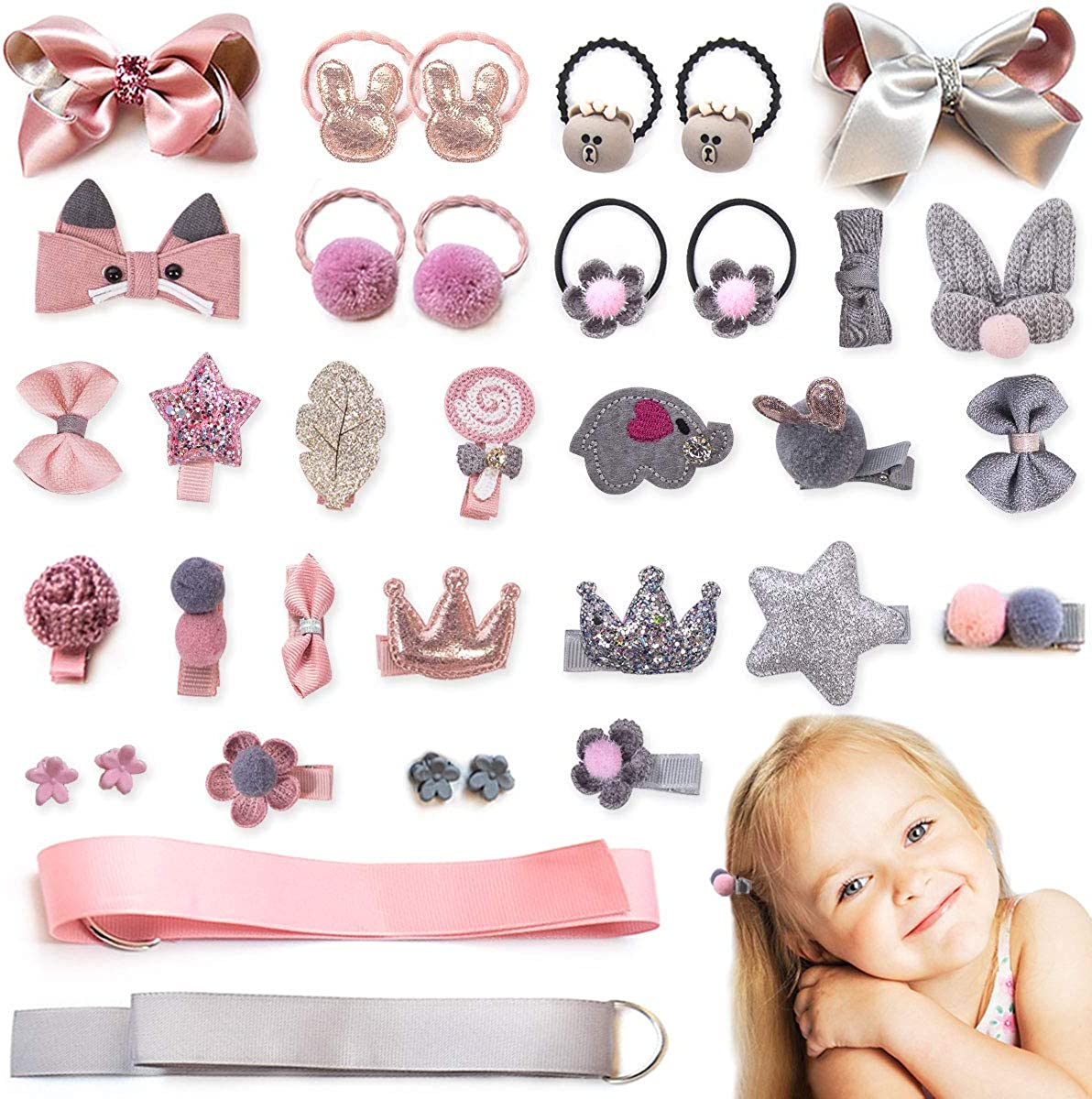 Toddler Hair Clip Infant Hair Clip Pink Flower Baby Hair Clip Baby Barrette Pink Bow Girl Hair Clip Girl Barrette Girl Hair Bow