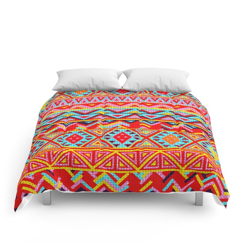 Society6 India Style Pattern (Multicolor) Comforters Full: 79'' x 79''