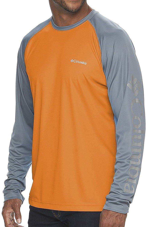 Columbia Mens Fork Stream Omni-Wick Long Sleeve Shirt Solar Grey Ash XXL