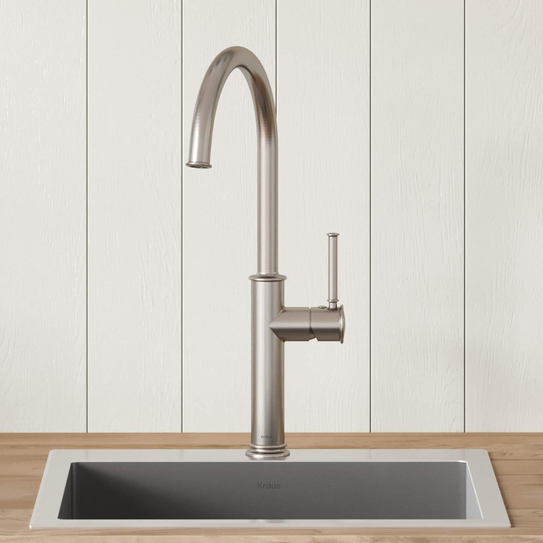 KRAUS Sellette Spot Free Stainless Steel Finish Kitchen Bar Faucet, KPF-1681SFS