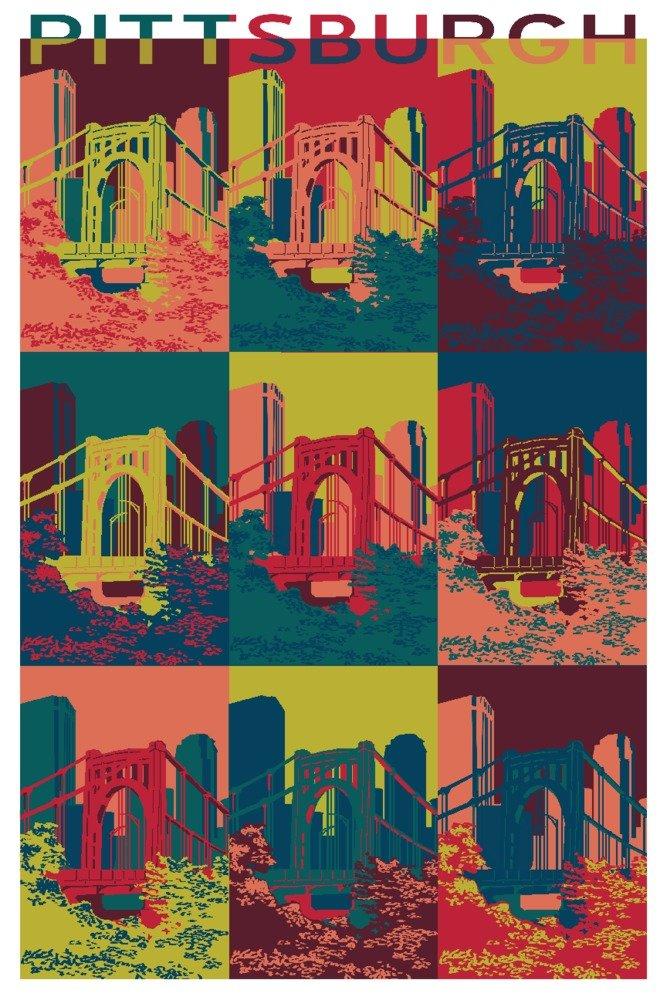 暮らし健康ネット館 ハミルトン – ピッツバーグ 12 10th、ペンシルベニア州 Canvas – 10th Street Bridge Pop Art Canvas Tote Bag LANT-85811-TT B07B22FYCR 12 x 18 Art Print 12 x 18 Art Print, ちょっと寄り道したいギフト&雑貨:8fc31060 --- arianechie.dominiotemporario.com