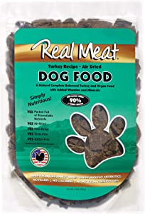 Real Meat Company Air Dried Turkey Dog Food, 2-lb Bag (70702)