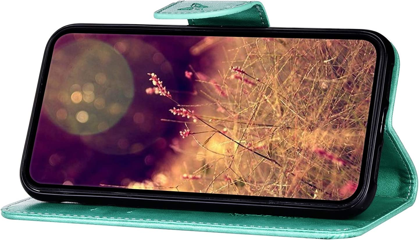 Herbests Kompatibel mit Huawei P20 Pro Handyh/ülle Brieftasche H/ülle Schmetterling Muster Retro Leder Schutzh/ülle Flip Case Wallet Tasche Ledertasche Klapph/ülle Magnetisch,Blau