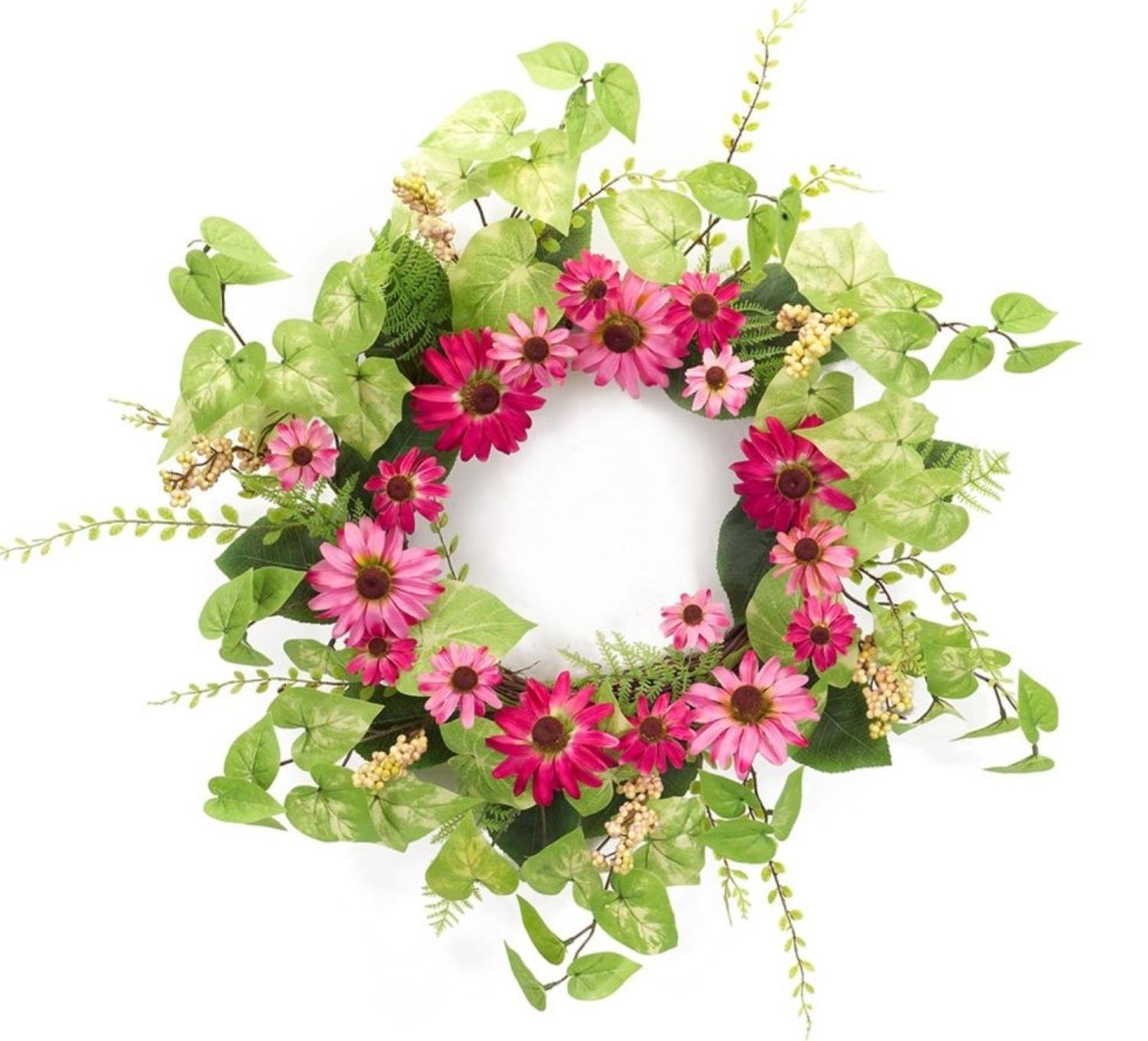 Pack of 2 Decorative Springtime Bright Black Eyed Susan Wreath by Melrose (Image #1)