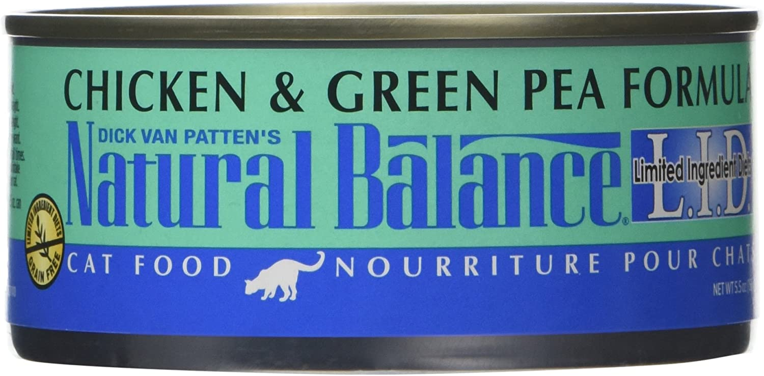 Natural Balance Lid Chicken & Green Pea Formula Canned Cat Food, 5.5 Oz