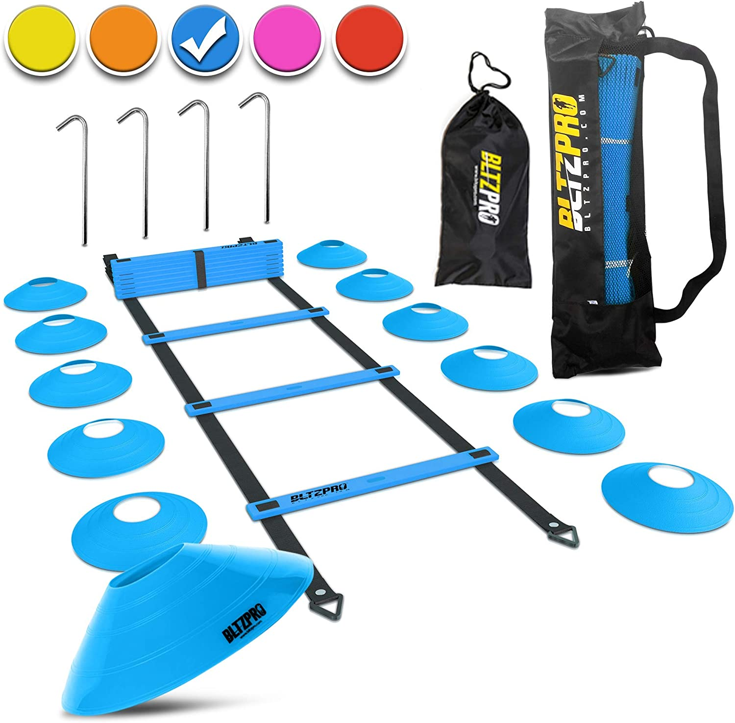 Durable Speed Training Agility Ladder Portable Footwork Exercise Tackle for Football Soccer Sports