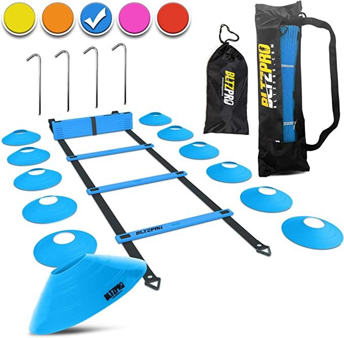 8m Soccer Ball Football Ladder Flexibility Speed Training Fitness Agility Ladder