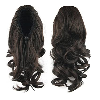 "Fouridig 14""Female Coleta Pelo Rizado Extensiones de Cabello Pelucas Sintéticas Hairpieces, ..."