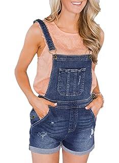 828ac6dcab7c Dearlove Womens Adjustable Straps Denim Dungaree Shorts Jumpsuits Playsuits  with Pockets S-XXL