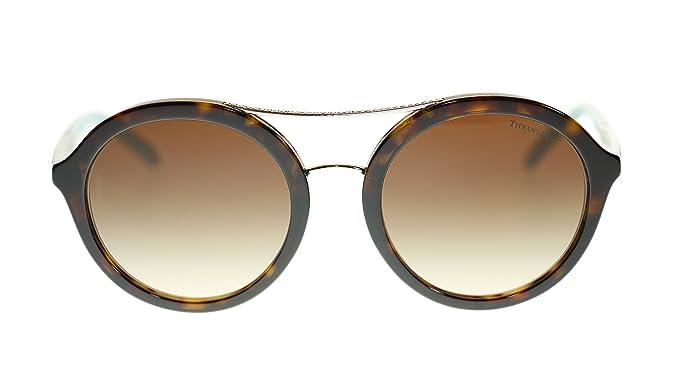 96a9bd0a0348 TIFFANY   CO Round Women s Sunglasses TF4136B 80153B Dark Havana ...