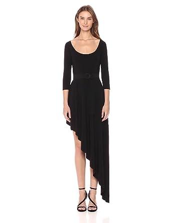 850eb9b9e6 Norma Kamali Women s Reversible Scoop Neck Diagonal Flared Dress at ...