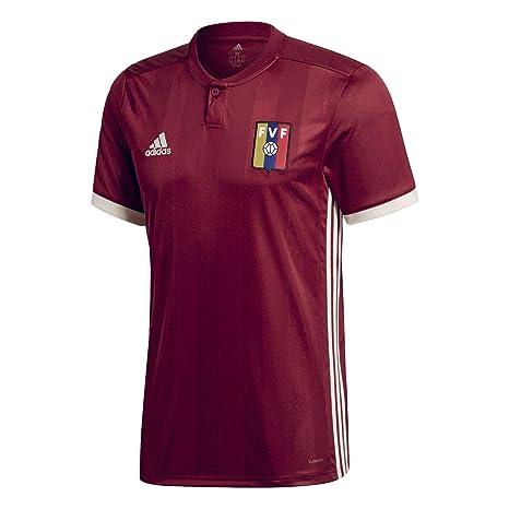 Adidas Venezuela Camiseta de Equipación, Hombre, Rojo (Buruni/blacre), 2XL