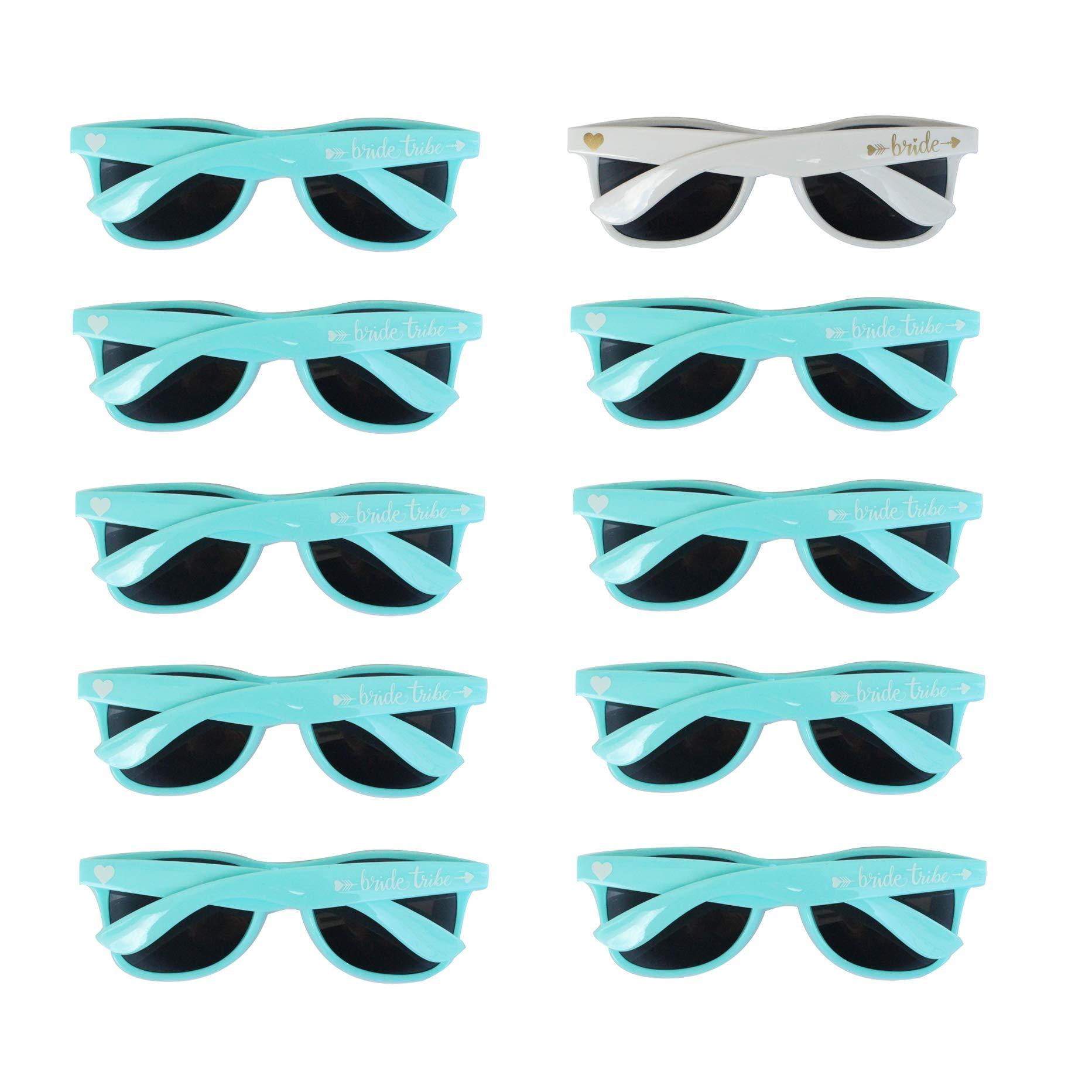 Bridal Shower Favors Bachelorette Party Supplies 10pcs Blue Weddings Sunglasses