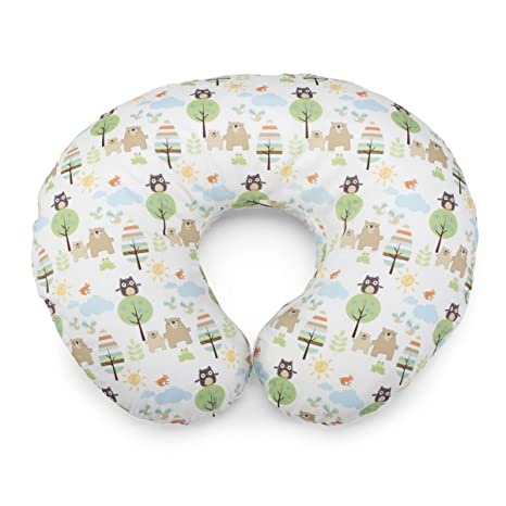 Boppy 08079902320000 - Cojín de lactancia de algodón con estampado Boppy Honey Bear, color blanco y verde