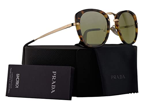 b565aeb741 Amazon.com  Prada PR58US Sunglasses Medium Havana w Green Mirror ...