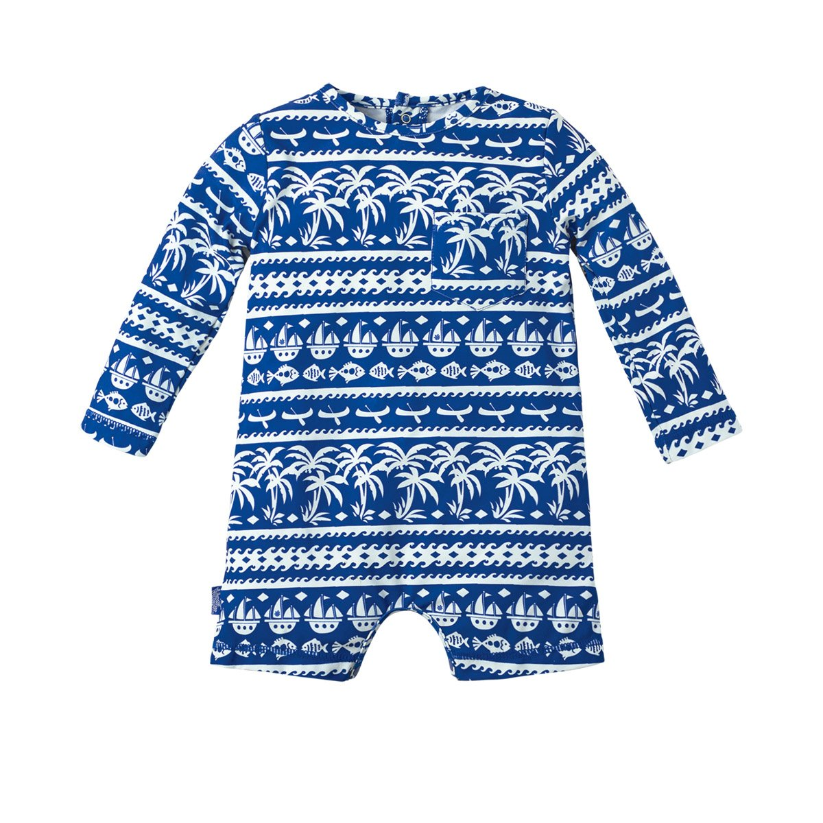 UV SKINZ UPF 50+ Baby Boys UV Sunzie Navy Blue Seashore