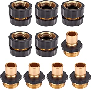 Hose Quick Connector,5 Set 10PCS 3/4 Inch Garden Hose Fitting Quick Connector Adapter Male and Female