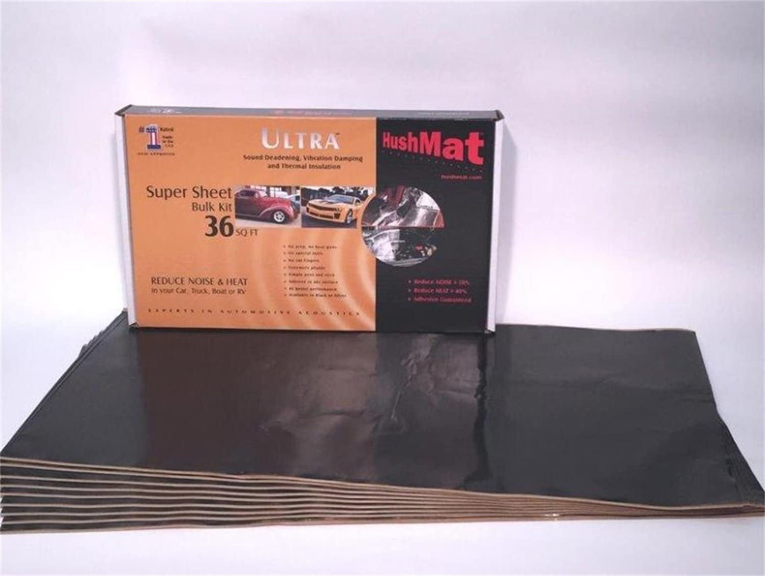 Super Bulk Sound-Deadening Kit with Stealth Black Foil 36 Square Feet