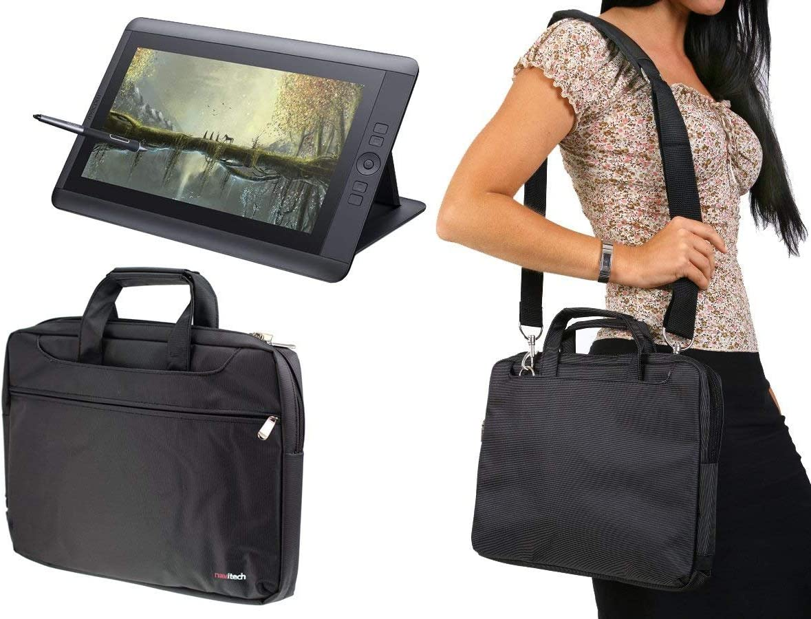 Navitech Purple Graphics Tablet Case//Bag Compatible with The HINIDD 8.5 LCD Writing Tablet