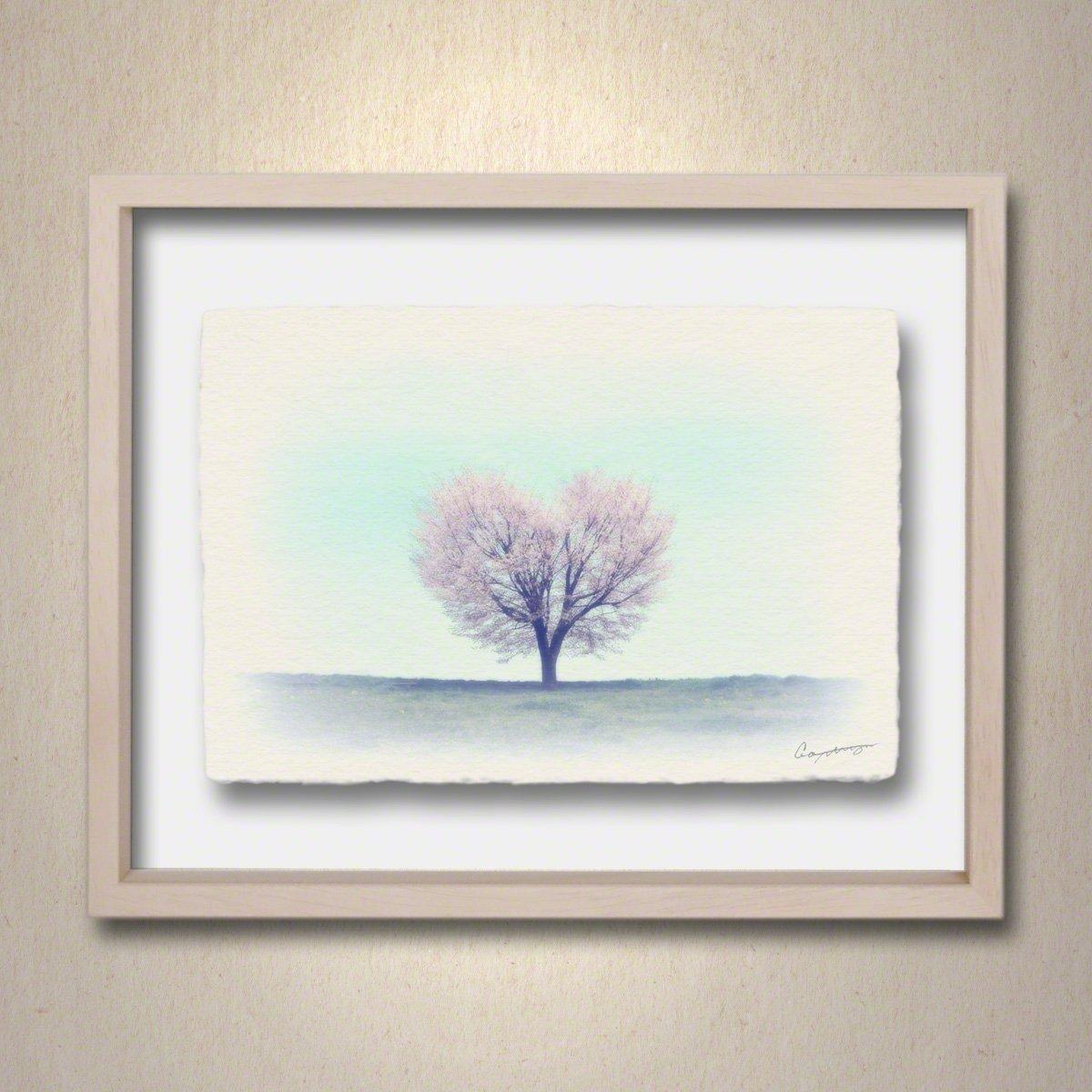 和紙 アートフレーム 「丘の上のハートの桜の木」 (40x30cm) 結婚祝い プレゼント 絵 絵画 壁掛け 壁飾り 額縁 インテリア アート B076YN3KSY 23.アートフレーム(長辺40cm) 28000円|丘の上のハートの桜の木 丘の上のハートの桜の木 23.アートフレーム(長辺40cm) 28000円