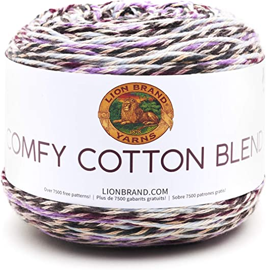 Lion Brand Comfy Cotton Blend 719 NEW Blueberry Muffin