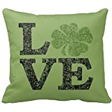 ForcoolStore St Patricks Day LOVE look Throw Pillow Case Cushion Cover