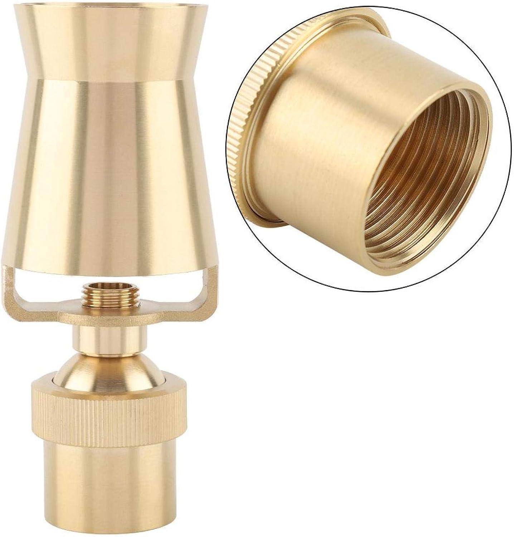 1DN25 meiguanxi Adjustable Brass Ice Tower Cascade Cedar Water Fountain Nozzle Spray Pond Sprinkler Head