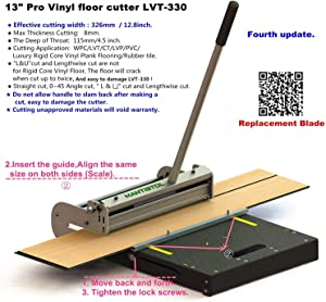 """MantisTol 13"""" Pro Vinyl floor cutter LVT-330 for VCT,LVT, PVC, LVP, WPC and Rigid Core Vinyl Plank. Better than 12-In Vinyl Tile Cutter."""