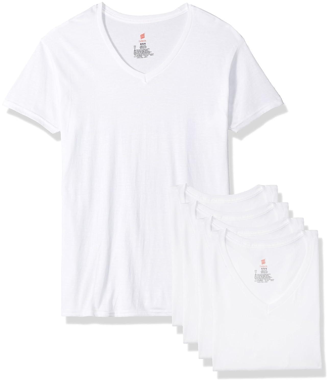 Hanes Mens Standard Comfort Fit V-Neck Undershirt 4-Pack Hanes Ultimate UFT2W4