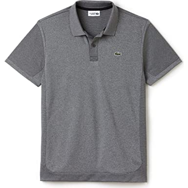 c1d7a71ccd Lacoste Two Tone Heather Men's Polo Shirt | Silver Chine/Black ...