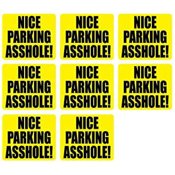 Nice parking ass hole topic