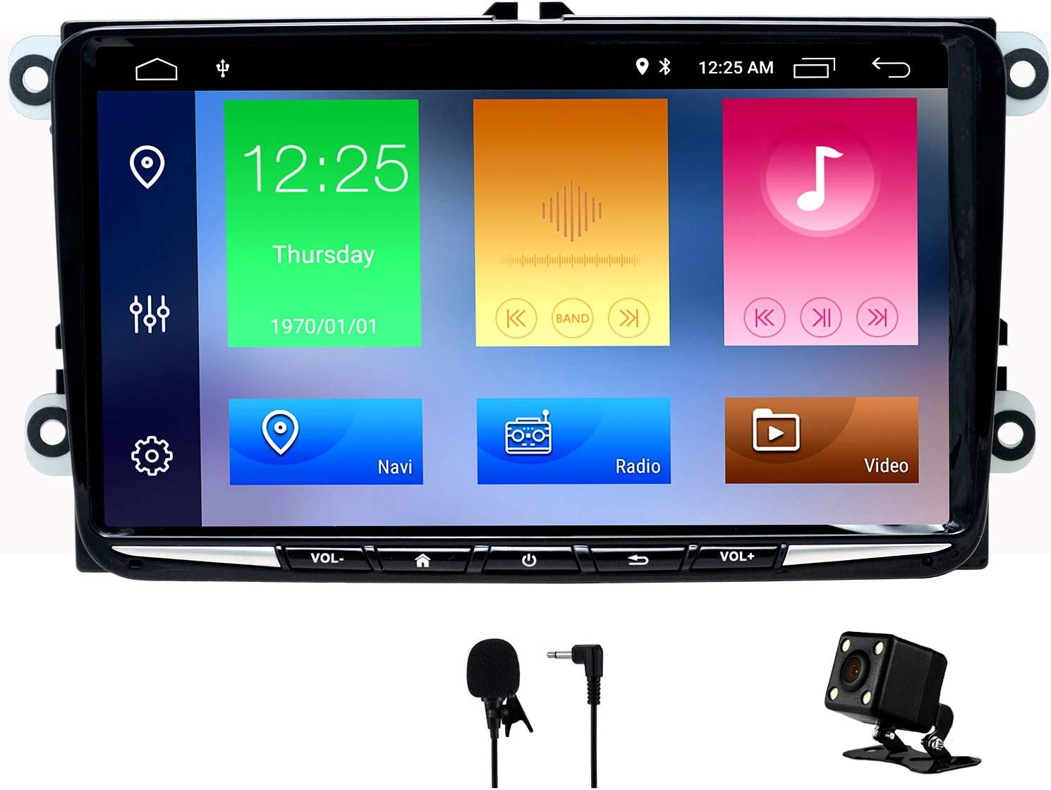 Swtnvin Android 10 0 Autoradio Stereo Headunit Passend Für Volkswagen Skoda Radio 9 Zoll Hd Touchscreen Gps Navigation Mit Bluetooth Wifi Lenkradsteuerung 2 Gb 32 Gb Dünn Navigation