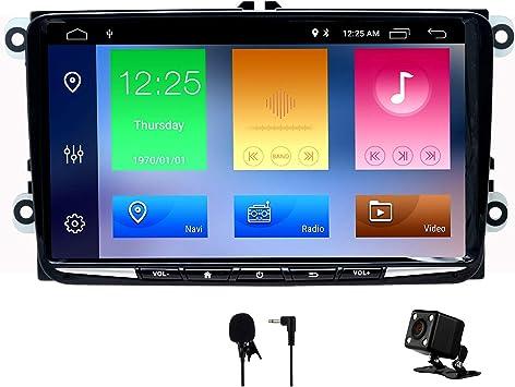 SWTNVIN Android 10.0 Unidad de Audio estéreo para Volkswagen Skoda Pantalla táctil HD de 9 Pulgadas navegación GPS con Control de Volante Bluetooth ...
