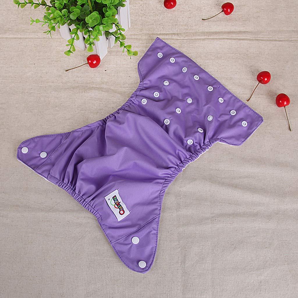 Matoen Baby Kid Newborn Reusable Nappies Adjustable Diaper Washable Cloth leakproo Diaper (Purple) by Matoen (Image #2)