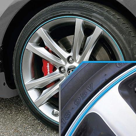 Amazon.com: Actualiza tus bandas de rueda de coche azul ...