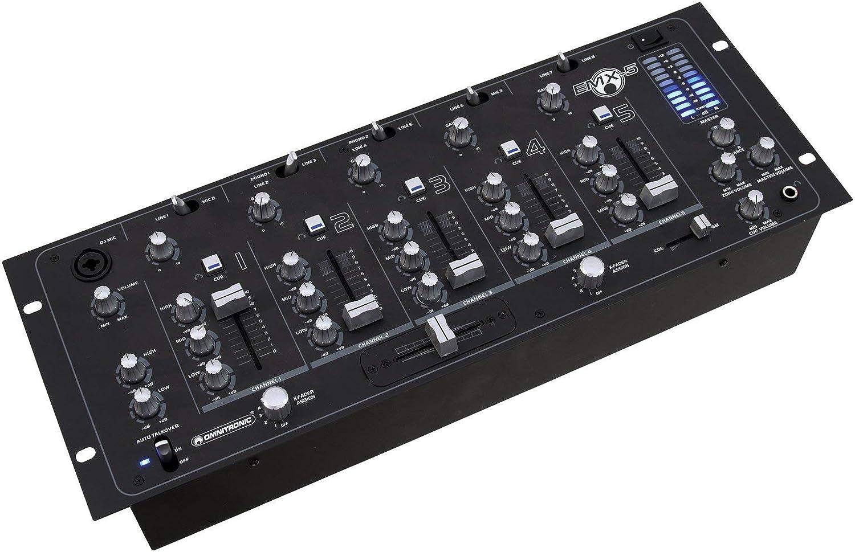 Omnitronic EMX-5 Mesa de mezclas DJ 5 Canales: Amazon.es ...