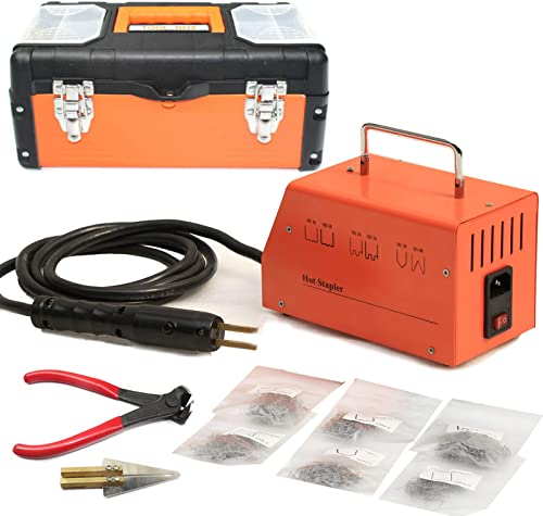 OIMERRY Plastic Welder Hot Stapler with 800pcs Staples, 110V Bumper Plastic Repair Welding Kit